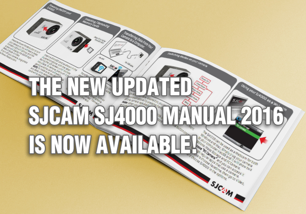 The Updated SJ4000 Manual 2016 Is Available Now!