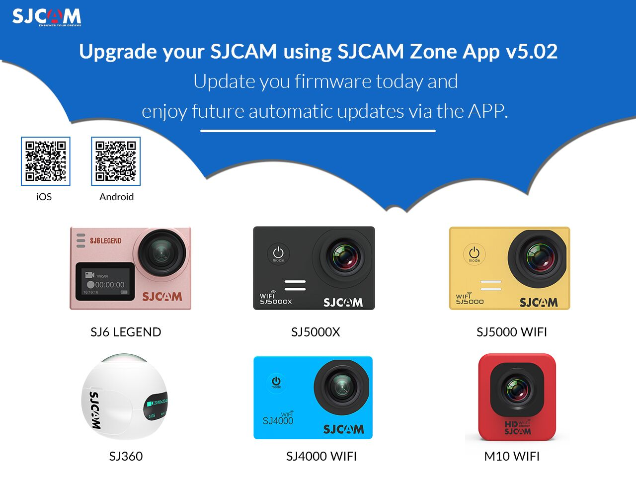 SJCAM Zone App v5.02 for iOS/Android – Upgrade Firmware for Auto-Updates