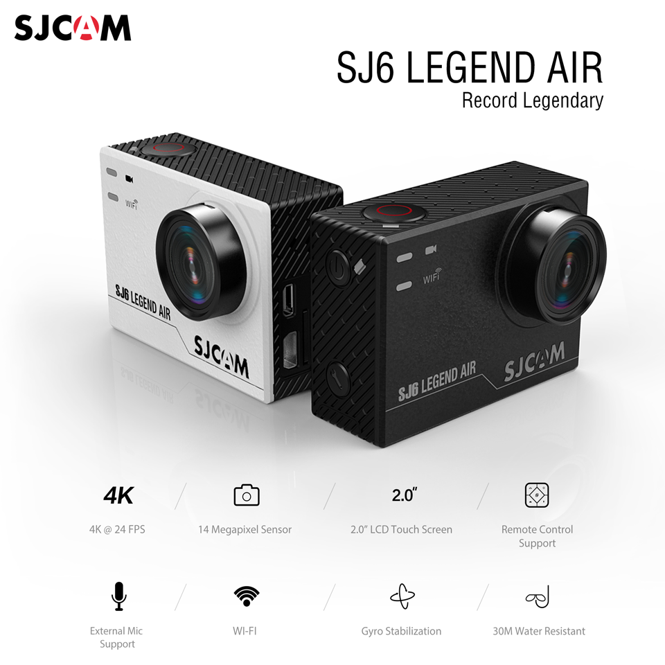 SJCAM SJ6 Legend Air 4K Action Camera Released
