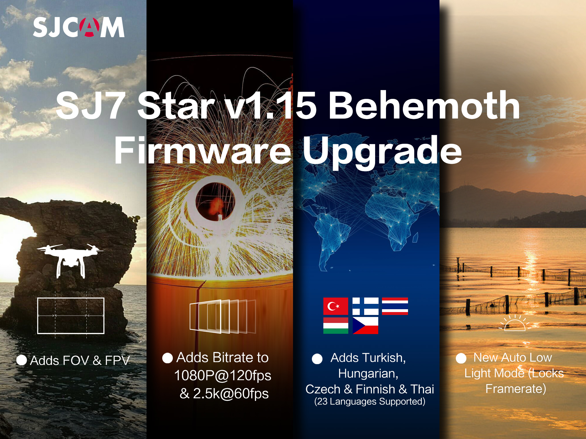 SJ7 Star V1.15 Firmware – Native 4k Action Camera – Huge Upgrade!