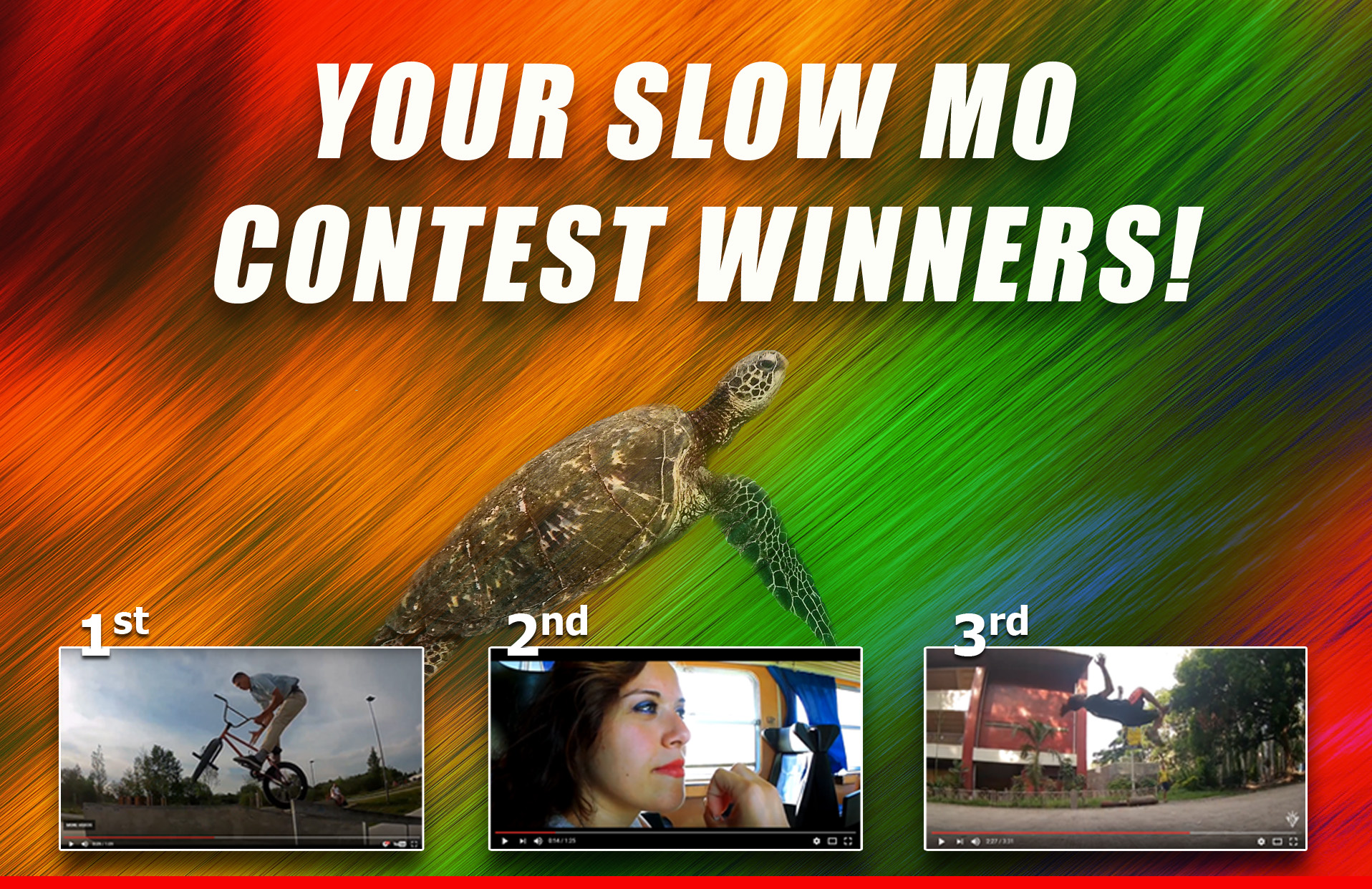 SJCAM SlowMo Contest Winners!