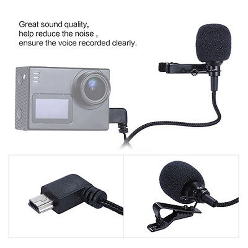 external microphone a for sj6 legend,sj7 star action camera