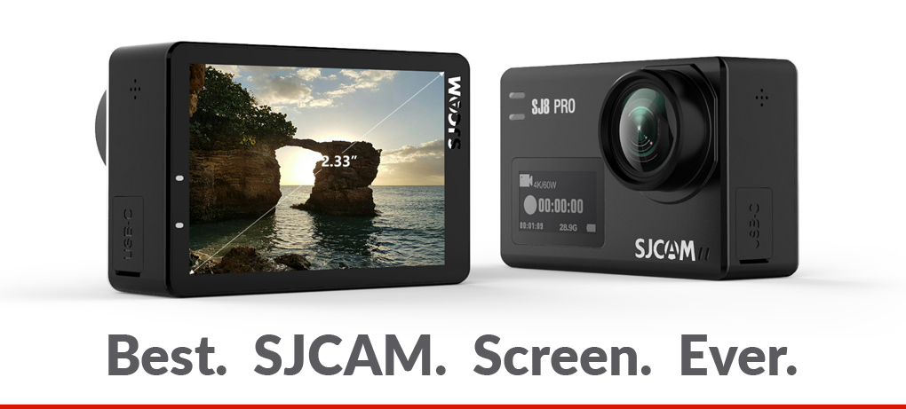 The SJ8 Series Has The Best LCD Touchscreen Among All SJCAM Cameras