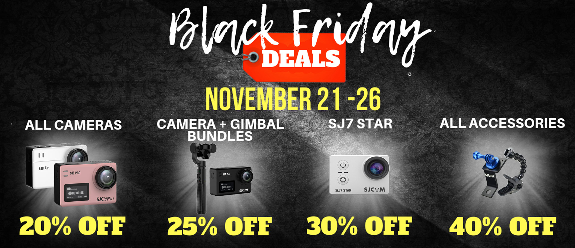 SJCAM's Black Friday Frenzy! Deals Gone Crazy